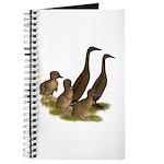 Chocolate Runner Duck Family Journal