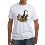 Chocolate Runner Duck Family Fitted T-Shirt