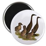 """Chocolate Runner Duck Family 2.25"""" Magnet (10"""