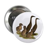 """Chocolate Runner Duck Family 2.25"""" Button (10"""