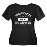 Proud Daughter of a US Airman Women's Plus Size Sc