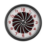 Chuck Barrel Spin Large Wall Clock