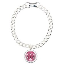 Breast Cancer Butterfly Bracelet