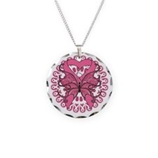 Breast Cancer Butterfly Necklace