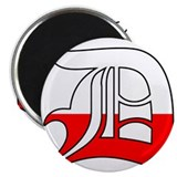 "Detroit Polish D 2.25"" Magnet (100 pack)"