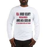 REAL BORDER SECURITY Long Sleeve T-Shirt