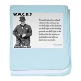 What Would Churchill Do - Nev baby blanket
