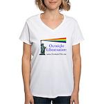 Outright Libertarians Women's V-Neck T-Shirt