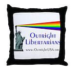 Outright Libertarians Throw Pillow