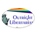 Outright Libertarians Sticker (Oval 10 pk)