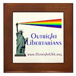Outright Libertarians Framed Tile