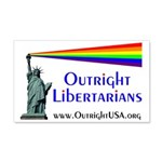 Outright Libertarians 22x14 Wall Peel