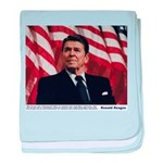 Reagan on Marx and Lenin baby blanket