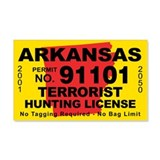 Arkansas Terrorist Hunting Li 22x14 Wall Peel