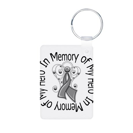 Brain Cancer In Memory Aluminum Photo Keychain