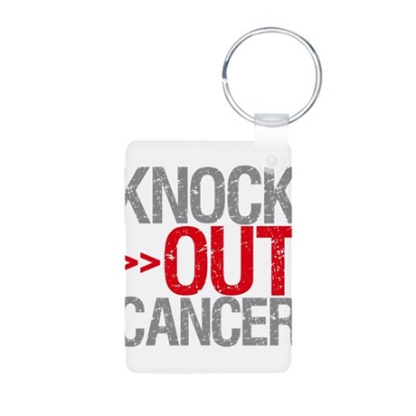 Knock Out Cancer Aluminum Photo Keychain