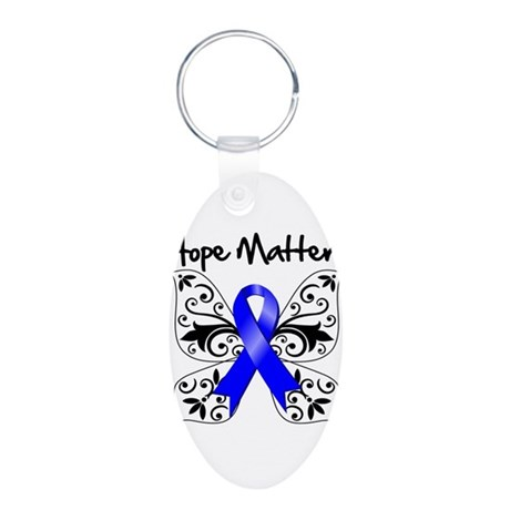 Hope Matters Colon Cancer Aluminum Oval Keychain