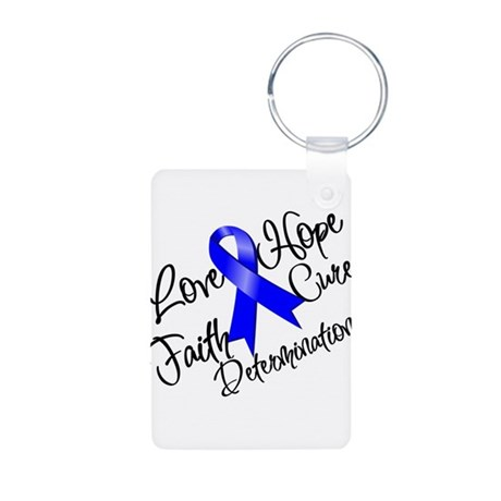 Love Hope Colon Cancer Aluminum Photo Keychain