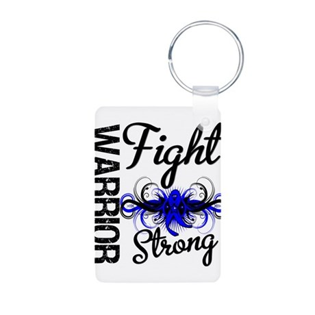 Warrior Colon Cancer Aluminum Photo Keychain