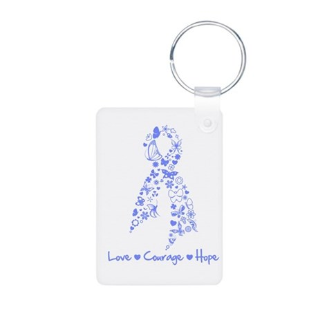 Love Hope Esophageal Cancer Aluminum Photo Keychai