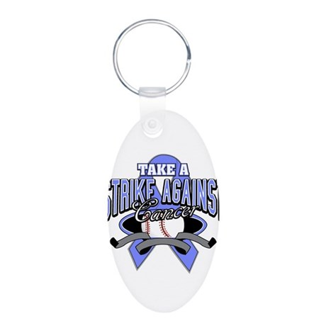 Take a Strike Esophageal Aluminum Oval Keychain