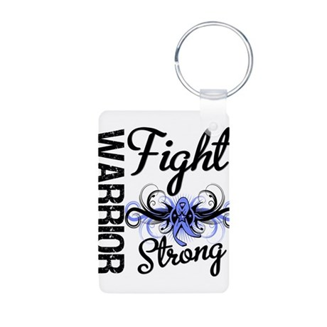 Warrior Esophageal Cancer Aluminum Photo Keychain