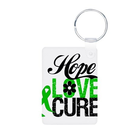 Hope Love Cure Bile Duct Aluminum Photo Keychain