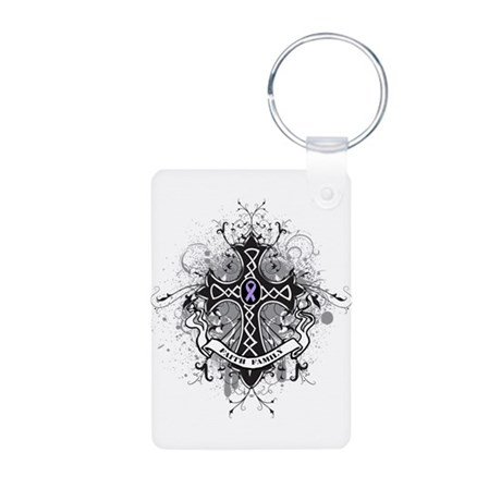 Cancer Prayer Cross Aluminum Photo Keychain
