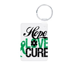 Hope Love Cure Liver Cancer Aluminum Photo Keychai