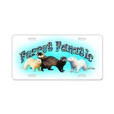 Ferret Aluminum License Plate