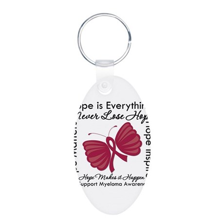 Hope is Everything Myeloma Aluminum Oval Keychain