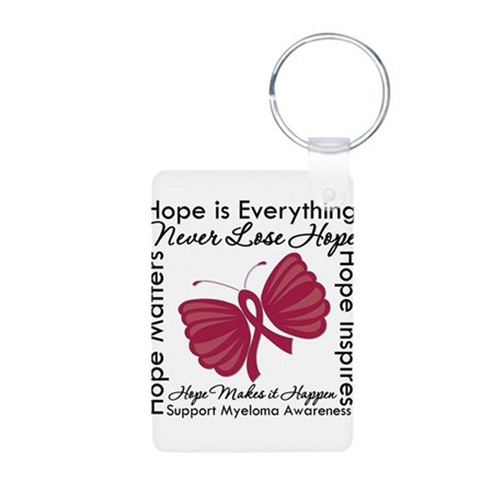 Hope is Everything Myeloma Aluminum Photo Keychain