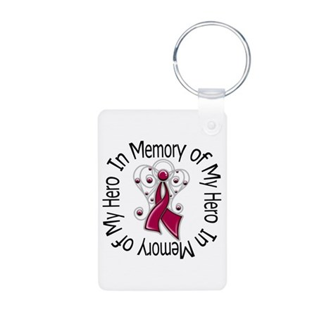 Myeloma In Memory Hero Aluminum Photo Keychain
