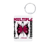 Butterfly Awareness Myeloma Aluminum Photo Keychai