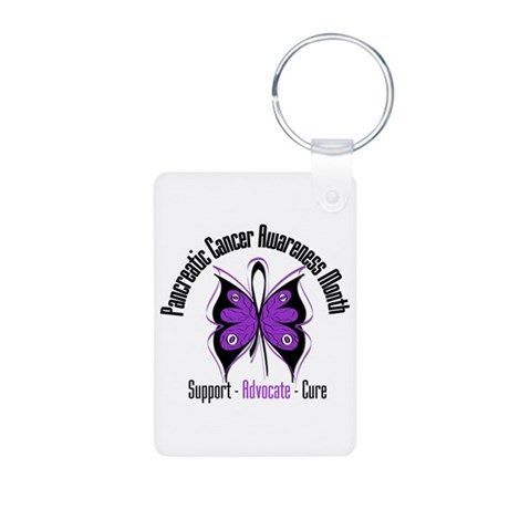 Pancreatic Cancer Month Aluminum Photo Keychain