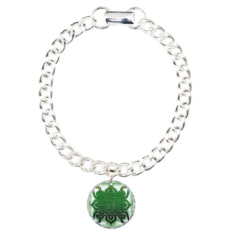 Celtic Design Charm Bracelet, One Charm
