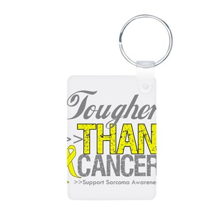 Tougher Than Cancer Aluminum Photo Keychain