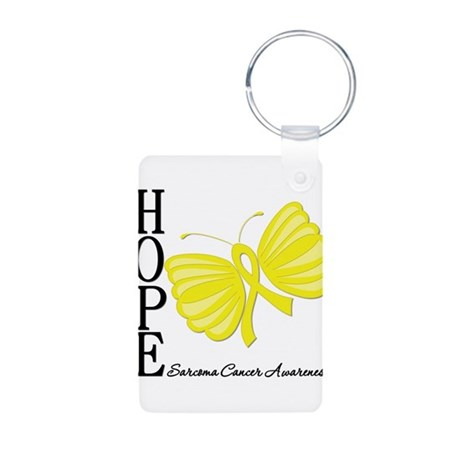 Hope Butterfly Sarcoma Aluminum Photo Keychain
