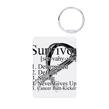 Skin Cancer Survivor Aluminum Photo Keychain