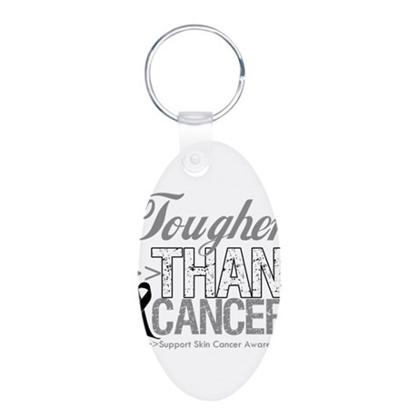 Tougher Than Cancer Aluminum Oval Keychain