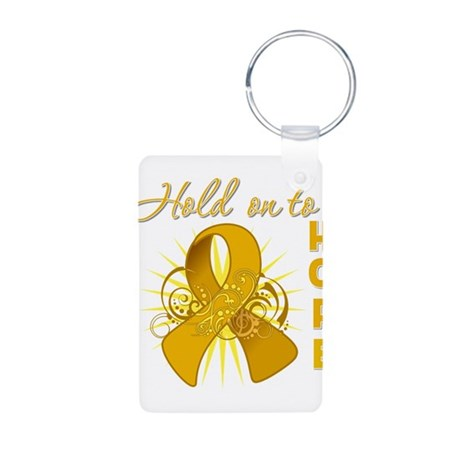 Appendix Cancer Aluminum Photo Keychain