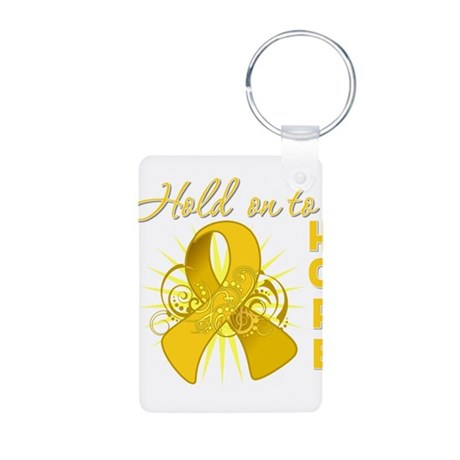 Childhood Cancer Aluminum Photo Keychain