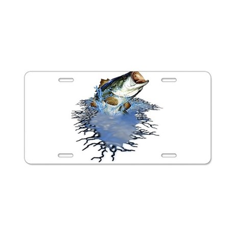 Iowa Fishing License on Gifts   Bass Car Accessories   Bass Fishing Aluminum License Plate