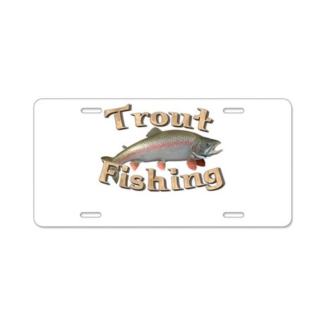 Fishing License on Different Car Accessories   Trout Fishing Aluminum License Plate