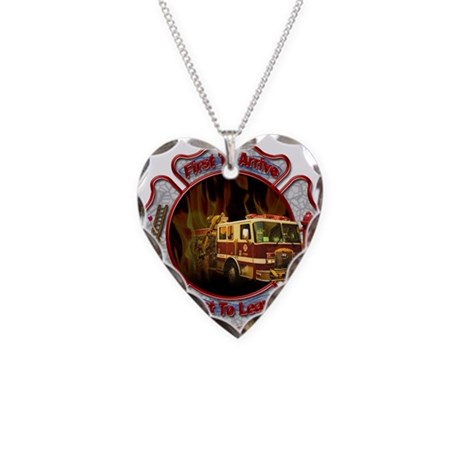 firefighter necklace by sbgraphics