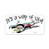 Scuba Diving Aluminum License Plate