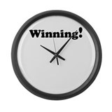 Winning! Large Wall Clock