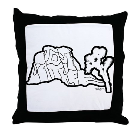 Joshua Tree and Intersection Throw Pillow