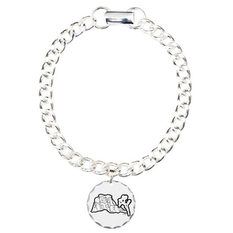 Joshua Tree and Intersection Charm Bracelet, One C