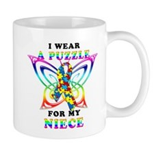 I Wear A Puzzle for my Niece Mug